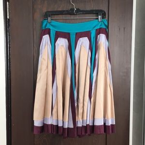 Multicolored silk Zac Posen skirt